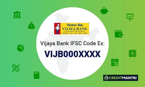 Vijaya Bank IFSC Code, Vijaya Bank MICR Code & Branches in India